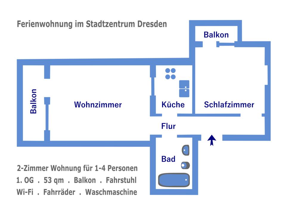 Ferien Wohnung Apartments CENTRAL in Dresden