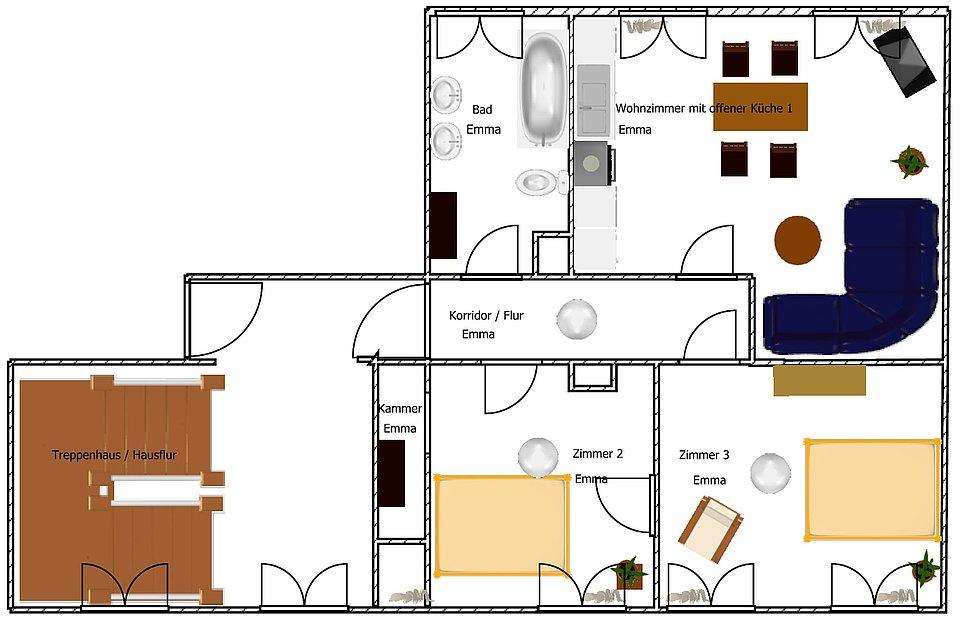dresdner tag gro e ferienwohnungen f r familien. Black Bedroom Furniture Sets. Home Design Ideas